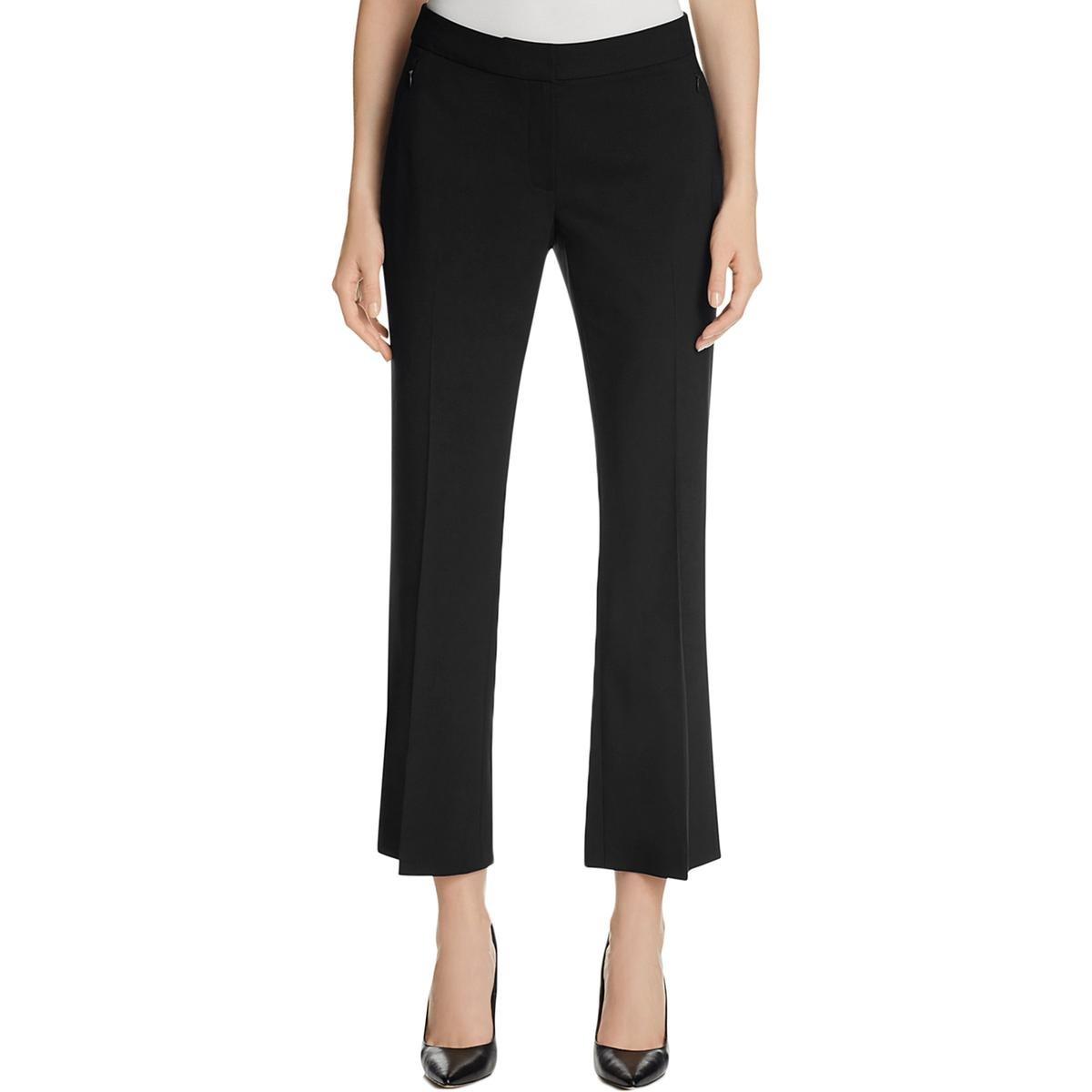 Elie Tahari Womens Harper Wool Classic Fit Dress Pants Black 10
