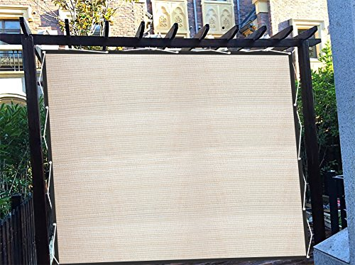 Shatex Vertical Shade Panel with 3 Sides Grommets Perfect for Wooden Pergola W-6ft x L-8ft Wheat