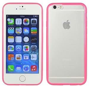 iPhone 6Plus Case–Ultra Slim Suave TPU duro PC mate transparente carcasa para Apple Iphone 6PLUS 5.5inch (rosa)