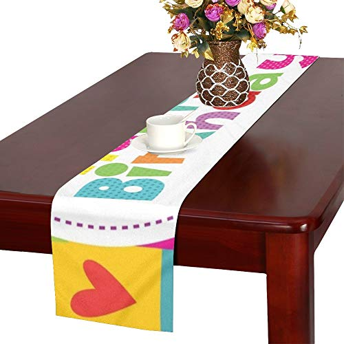 Happy Birthday Card Design Table Runner, Kitchen Dining Table Runner 16 X 72 Inch for Dinner Parties, Events, Decor ()
