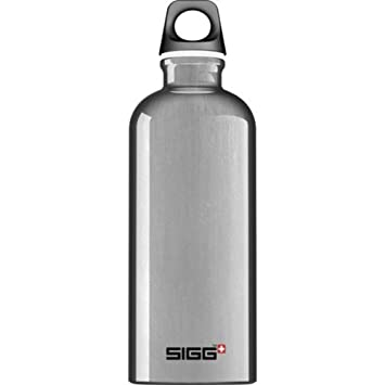SIGG ALU Trinkflasche 1.0 L Sport Outdoor Freizeit »Traveller« Lucid Shade Grau Radsport