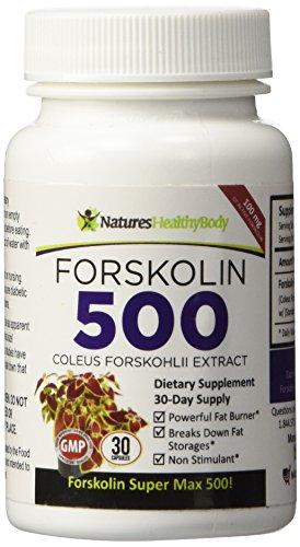 Forskolin Forskohlii Extract Supplement Capsules product image