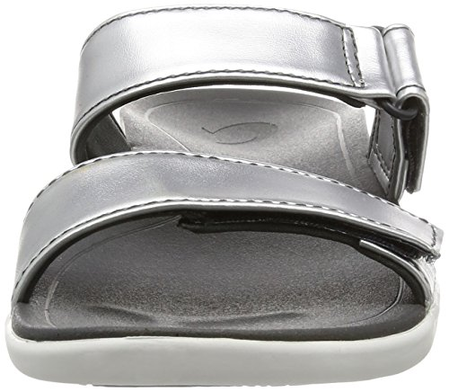 Dark Comfort Kipuka Sandals Shadow Slide OluKai Women's Silver f4WqZnwcYa