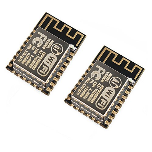 Gowoops 2 PCS of ESP8266 ESP-12F Wifi Serial Module Board for Arduino, Wireless Transceiver Remote Port Network Development Board