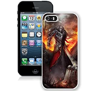 Fashionable Designed Cover Case For iPhone 5S With Demon Warrior Fantasy Mobile Wallpaper (2) Phone Case