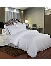 Hotel Comforter 6 Pcs Set By Valentini, King Size, Stripe D2, White, Microfiber