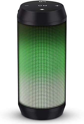 ELEHOT Bluetooth Speaker Portable Wireless with Lights, Stereo Loud Volume, TWS Dual Pairing Speaker with Subwoofer Outdoor 1 PC