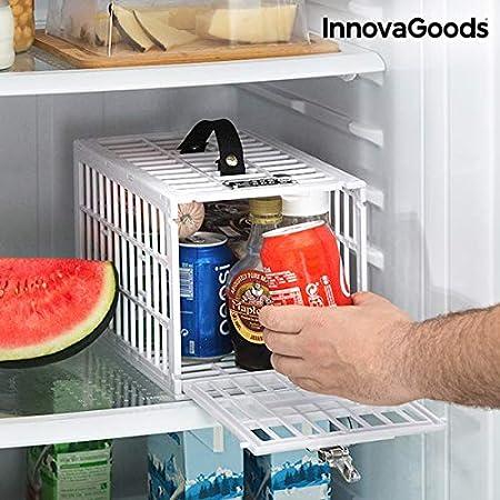 InnovaGoods Jaula De Seguridad para Neveras Food Safe, Blanco ...