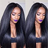 E-forest hair 7A Grade Product Full Lace Wig Virgin 100% Peruvian Remy Human Hair Silky Straight Middle Part 18 inch Natural Black 130 Density Baby Hair HBm-02