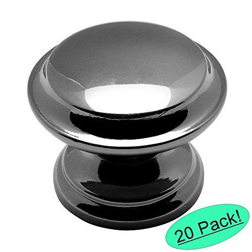 Cosmas 4251BN Black Nickel Cabinet Hardware Round Knob - 1-3/8