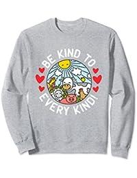 Vegan Sweatshirt With Farm Animals - Be Kind to Every Kind