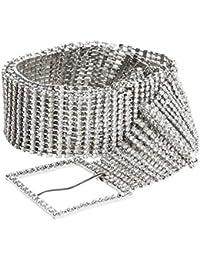 Women Crystal Rhinestone Chain Waist Belt Party Club Sparkle Waistband