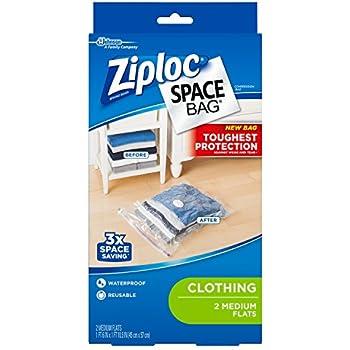 Amazon Com Ziploc Space Bag Flat Medium 2 Count