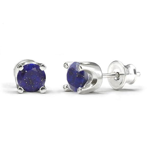 Natural Citrine Gemstone Stud Earrings 2g 925 Sterling Silver 15mm DupjC
