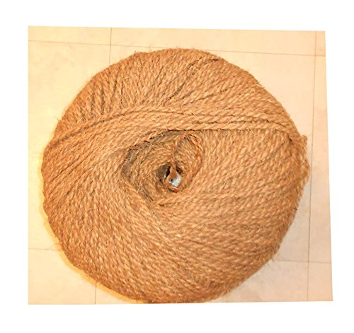 Garden Twine, Coconut Fiber (Coir) Twine for Garden works and Nursery works , Length 600 Feet, Diameter 5 mm ,Weight 4.5 lbs by Premium Quality Coir Twine