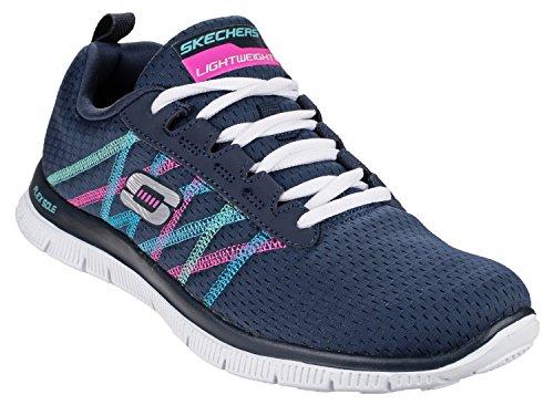 Zapatillas de deporte con cordones Skechers SK11885para señora Flex Appeal Navy / Multi