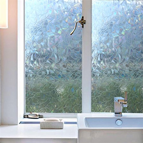 Cheap Arthome 17.7 X 100 Inch Privacy Window Glass Films No Glue Frosted  Static Cling UV ...