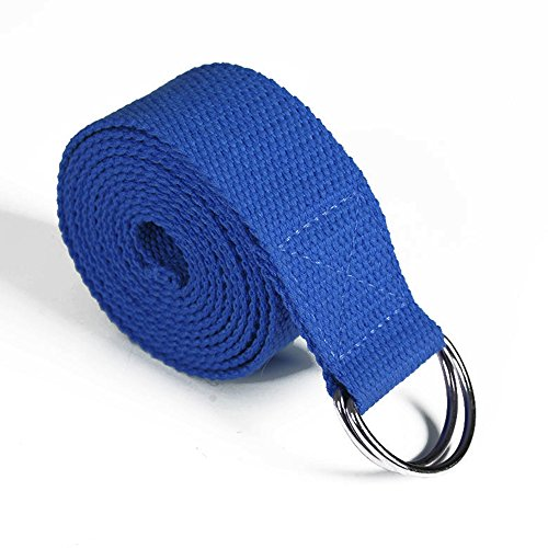 Coosa Multi-Color Yoga Stretch Strap with Metal D-Ring Belt 8FT