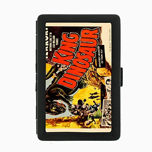 Perfection In Style Black Color Metal Cigarette Case D-183 King Dinosaur Terror - Black Monster Terrors