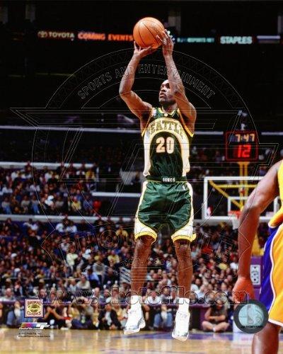 (Gary Payton Seattle Sonics NBA Action Photo 8x10)