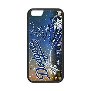 iPhone6 4.7 Case Beautiful Design MLB Los Angeles Dodgers Snowflake Pattern iPhone6 4.7 (Laser Technology)