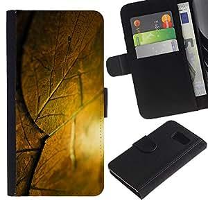 KingStore / Leather Etui en cuir / Samsung Galaxy S6 / Lista Krysha krovlya Sloy