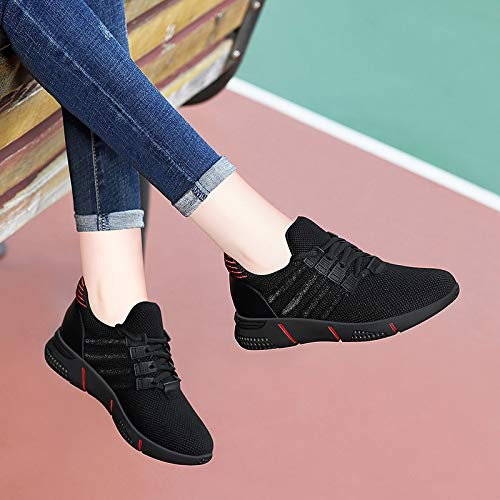 GTVERNH Womens Shoes//Ladies Sports Leisure Shoes Autumn and Winter Womens Shoes Running Shoes Single Shoes Gules Thirty-Six