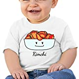 BuecoutesHappy Kimchi Kimchee Bowl Toddler/Infant Short Sleeve Cotton T Shirts White 40
