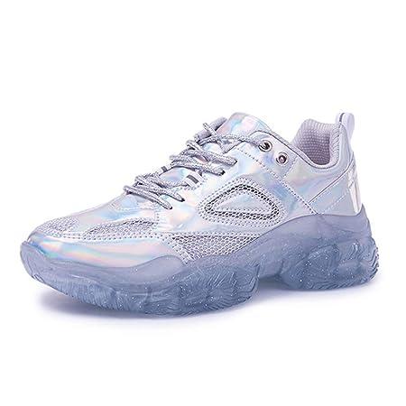 LFLONG Ms Sneakers, Scarpe da Corsa Traspiranti alla Moda