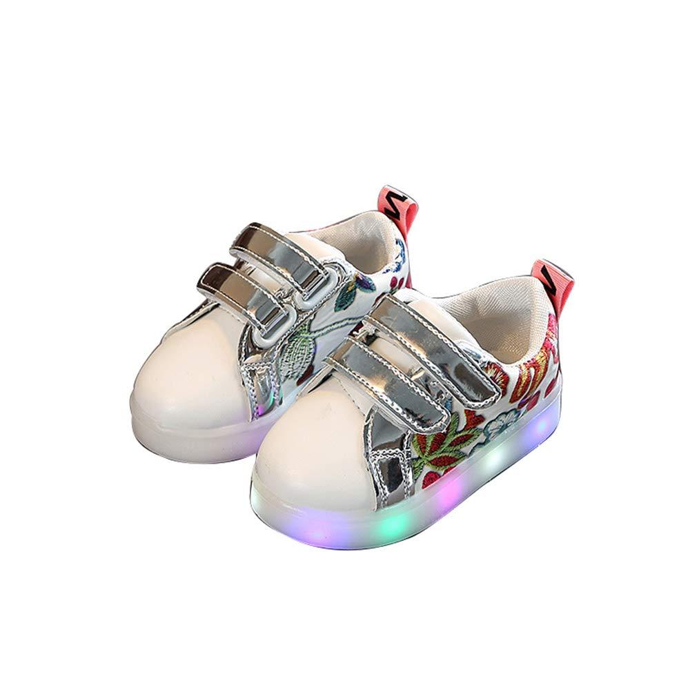 edv0d2v266 Kids Baby Girs Led Light Shoes Boys Soft Luminous Outdoor Sport Shoes(Pink 21/5MUSToddler)