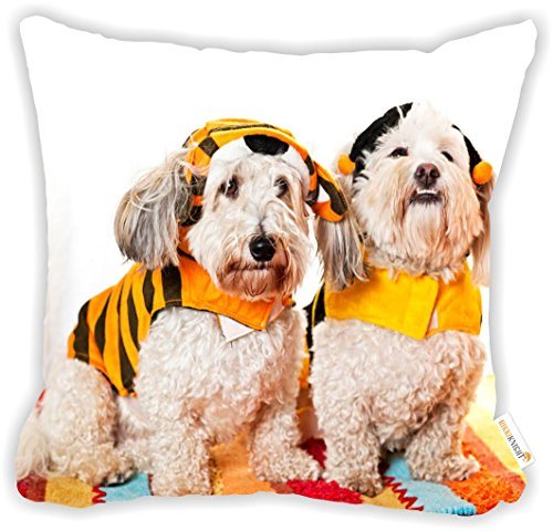 [Rikki Knight Cute Dogs in Costumes Microfiber Throw Décor Pillow Cushion 18
