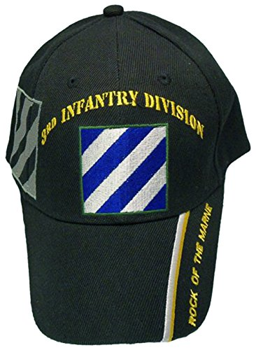 U.S. Army Division and Brigade Baseball Caps Quality Embroidered Hats (3rd Infantry Division Rock of The Marne)