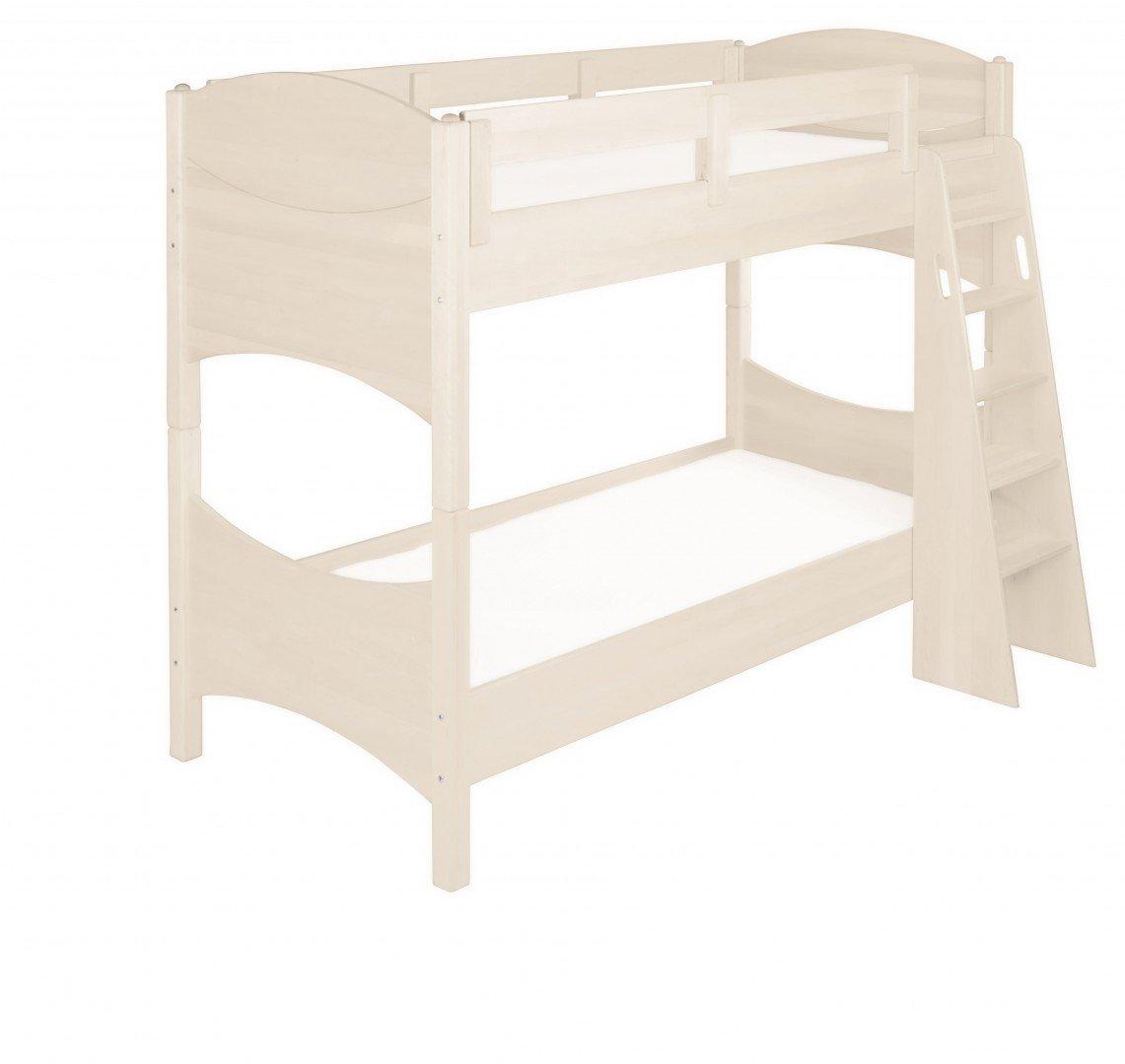 BioKinder 23879Noah Spar-Set Etagenbett Stockbett aus Massivholz Kiefer weiß 90 x 200 cm