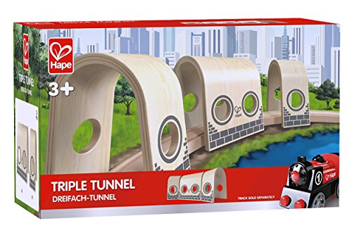 Hape Wooden Railway Triple Tunnel Set