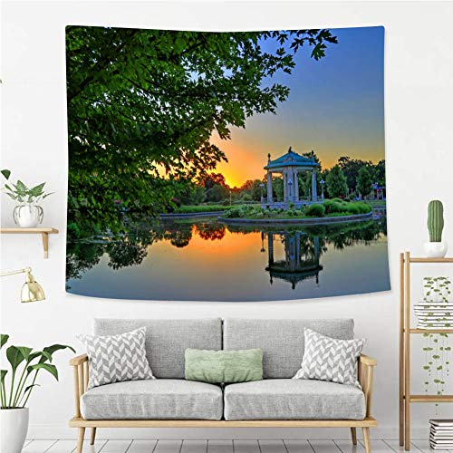 BEIVIVI Colorful Art Design Tapestry Forest Park Bandstand in St Louis Missouri Wall Tapestry with Art Nature Home Decorations