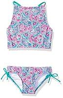 Kanu Surf Girls' Big Sundance Paisley Tankini Beach Sport 2-Piece Swimsuit, Pink, 7