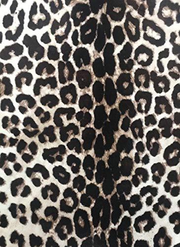 - Genuine Hair on Hide Ultra Thin Goatskin Leather Pelt Leopard Print Short Hair #3