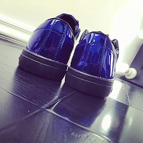 44 Homme Raven shop Noir Doré Flats Chaussures Argent Basses 39 Sneakers Bleu Lacer Léopard Bleu de Baskets Patent Course q1FOqSWnA