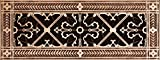 """Decorative Grille, Vent Cover, or Return Register. Made of Urethane Resin to fit over a 4''x14'' duct or opening. Total size of vent is 6""""x16''x3/8'', for wall and ceiling grilles (not for floor use)."""