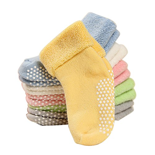 DmsBanga 6 Pairs Baby Socks for Unisex Kids Stocking Birthday Christmas Gift Set,Baby Socks Girl Boy,Baby Socks Christmas,Baby Socks Unisex,Baby Anti-slip Cuff Socks Thick Cotton Socks(1-3 Years Old)