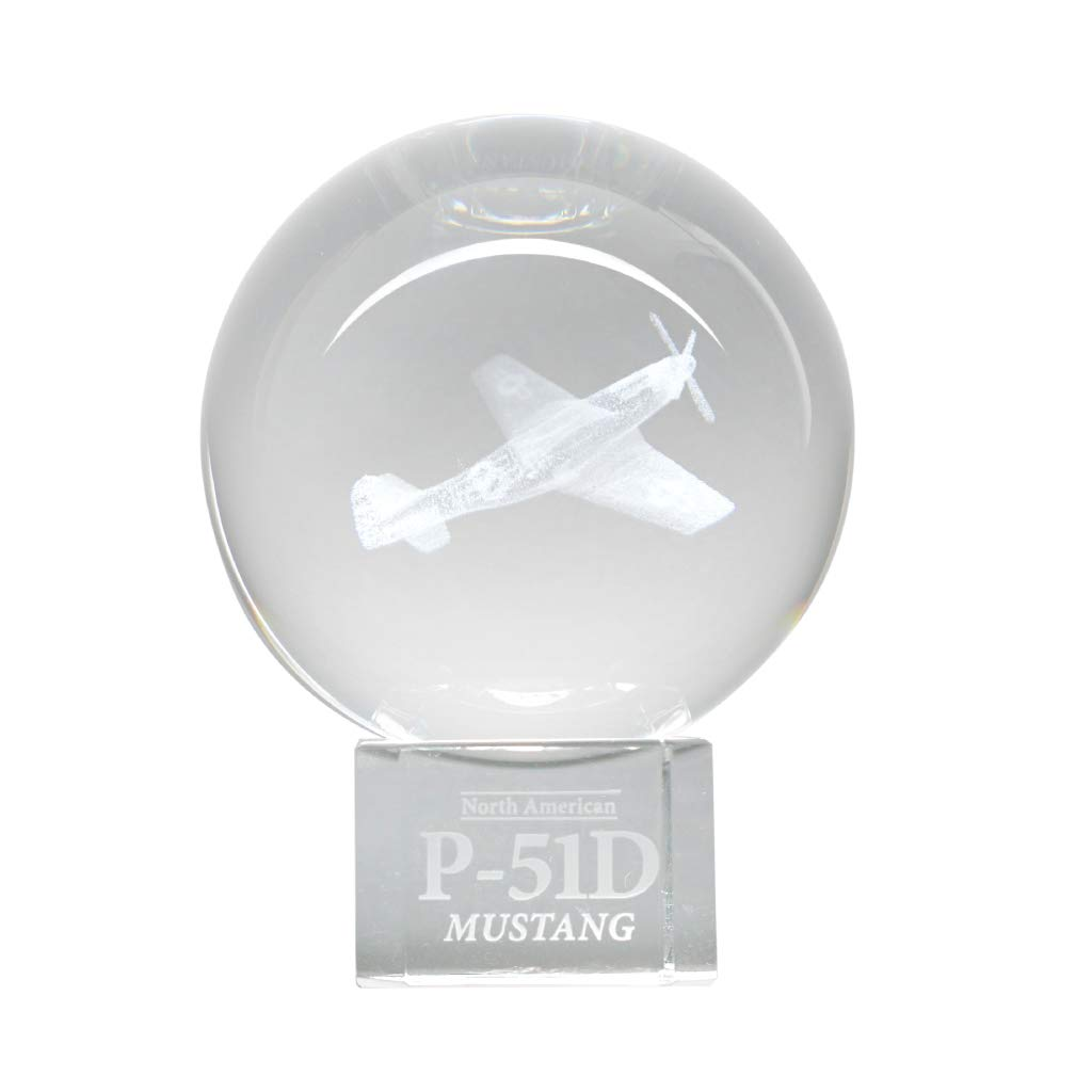 Dynasty Gallery P51 Mustang WWII Aircraft Crystal Ball