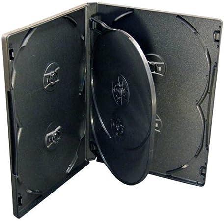 Vision Media 6 Secciones Negras Multi DVD/CD Estuche 25pcs 14mm Espina: Amazon.es: Electrónica