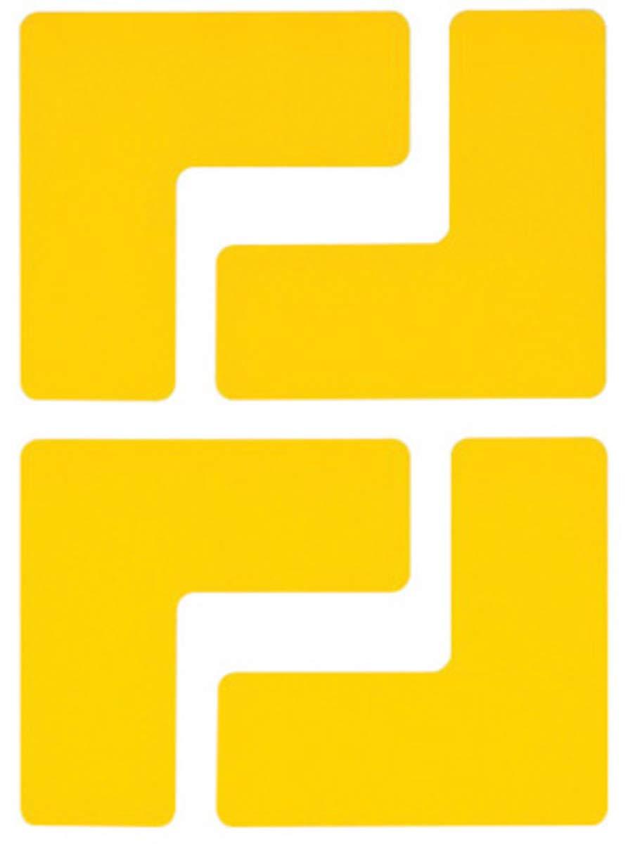 Brady 2'' Yellow .008'' B-514 Polyester ToughStripe Floor Corner Mark