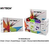 Hytech HY-XK30 Mobil Telefon Uyumlu Beyaz Kulak İçi Mikrofonlu Kulaklık