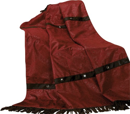 HiEnd Accents Cheyenne Western Throw, Red Cheyenne Bedding
