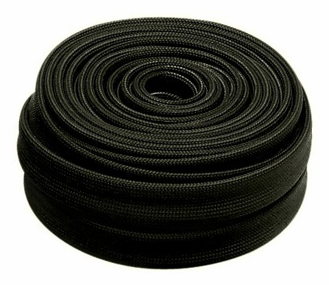 "Heatshield Products 203124 HP Color Heat Sleeve Black 7/16"" ID x 25' Adjustable Heat Shield Sleeve"