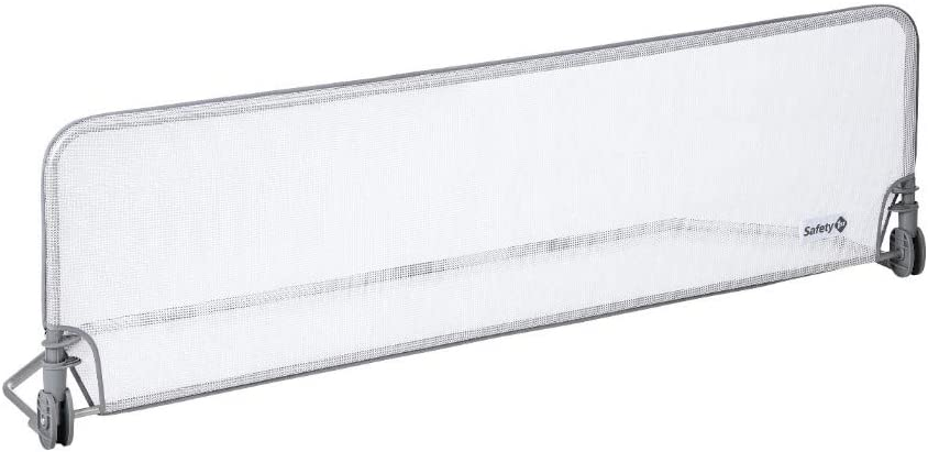 Safety 1st Barrera Cama niño longitud 150 cm, Barandilla Cama niños Abatible, Anticaidas Infantil, color Blanco