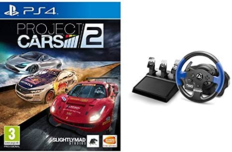 Project Cars 2 + Volante Thrustmaster T150RS PRO - Force Feedback - 3 pedales: Amazon.es: Videojuegos