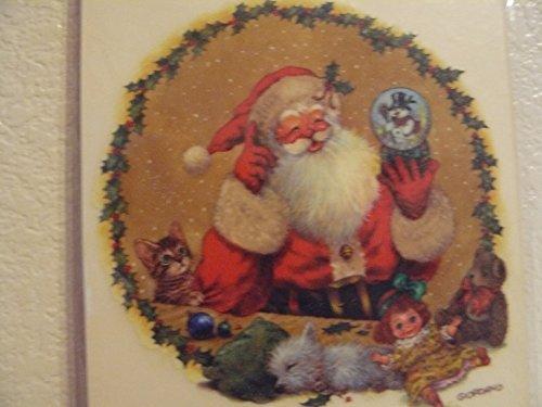 (Santa & Snowglobe Rub-ons)