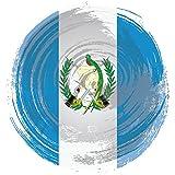 Guatemala Grunge Flag Home Decal Vinyl Sticker 12'' X 12''